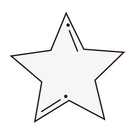 star comic pop art on white background vector illustration