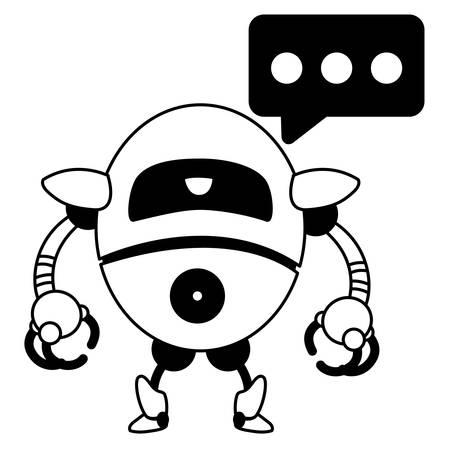 Robot design, Robotic tecnology futuristic toy machine cyborg science and android theme Vector illustration Çizim