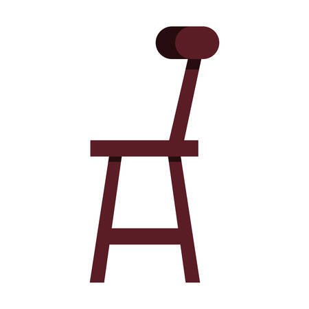 wooden chair in white background vector illustration design 일러스트