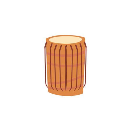 musical instrument congas on white background vector illustration design Illusztráció