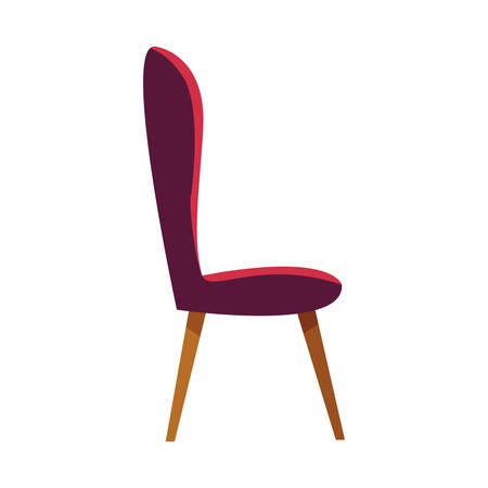 Chair design, seat furniture interior home comfortable style and object theme Vector illustration 스톡 콘텐츠 - 135424435
