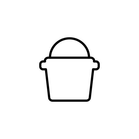 bucket design, Construction work repair reconstruction industry build and project theme Vector illustration