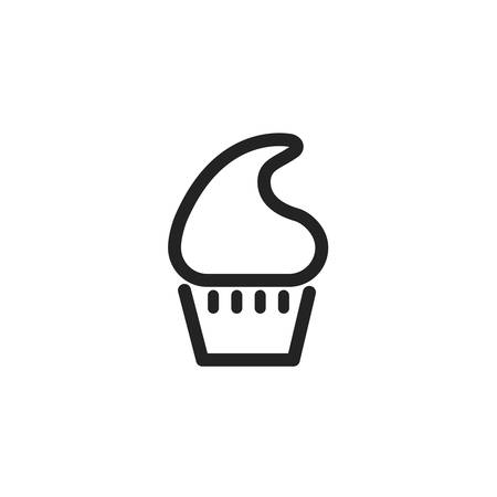 Sweet muffin icon design, dessert food delicious sugar snack and tasty theme Vector illustration Foto de archivo - 135430027