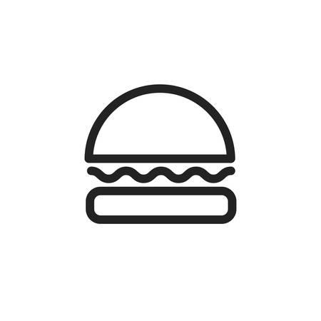 hamburger icon design, Eat food restaurant menu dinner lunch cooking and meal theme Vector illustration Ilustração