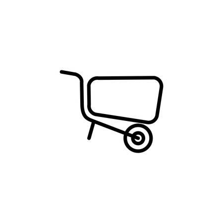 wheelbarrow design, Construction work repair reconstruction industry build and project theme Vector illustration Ilustracja