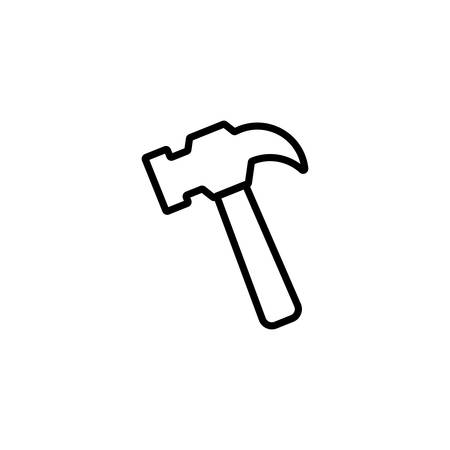 hammer design, Construction work repair reconstruction industry build and project theme Vector illustration Ilustracja