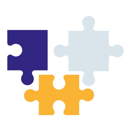 puzzle game pieces solution icons vector illustration design Illustration