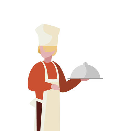 chef worker avatar character vector illustration design Illustration