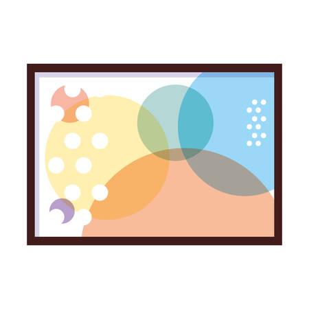 Exposición de pinturas, galería de arte sobre fondo blanco, diseño de ilustraciones vectoriales