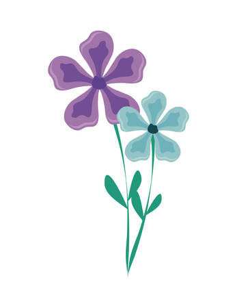 beautiful flowers nature icon vector illustration design
