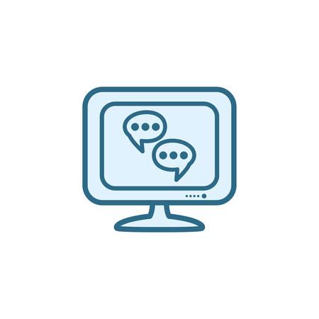 Communication bubble icon design, Message discussion conversation talk and technology Vector illustration Vectores