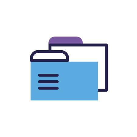 folder with file sheet in white background vector illustration design Imagens - 135482742