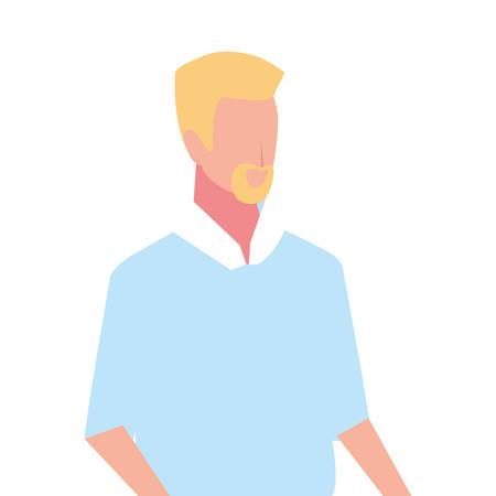 young man on white background vector illustration design Illustration