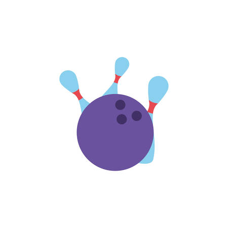 ball with bowling in white background vector illustration design Ilustrace