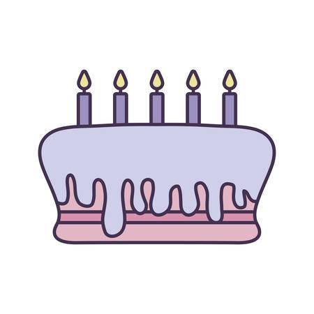 sweet cake of birthday isolated icon vector illustration design Illusztráció