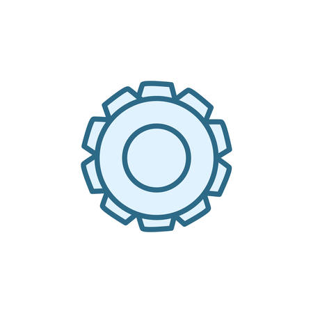 Gear icon design, Cog circle wheel machine part technology industry and technical theme Vector illustration Çizim