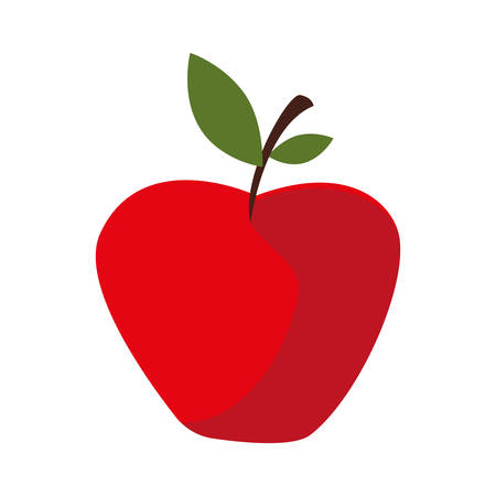 apple icon design, Fruit healthy organic food sweet and nature theme Vector illustration