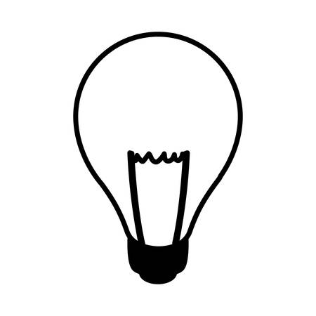 light bulb in white background vector illustration design
