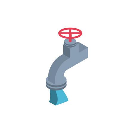 water faucet on white background vector illustration design Ilustração