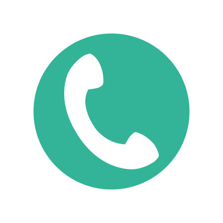 icon of incoming call, answer phone call vector illustration design