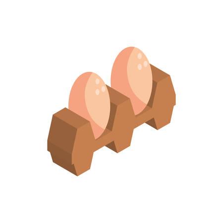 eggs pack on white background vector illustration desing 矢量图像