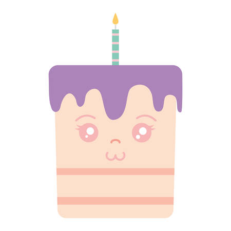 sweet birthday cake with candles vector illustration design Illusztráció