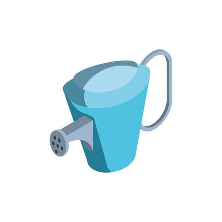 Regadera con rociadores de agua sobre fondo blanco, diseño de ilustraciones vectoriales Ilustración de vector