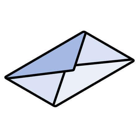envelope closed in white background vector illustration design