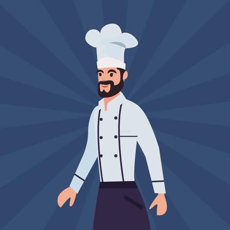 厨师男专业劳动节矢量插图设计