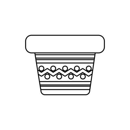 cute flower pot on white background vector illustration design