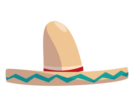 Mexican hat design, Mexico culture tourism landmark latin and party theme Vector illustration