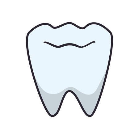 tooth human isolated icon vector illustration design Vektoros illusztráció