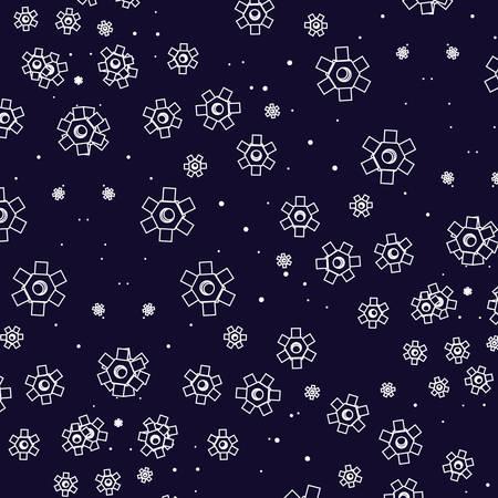 pattern of gears pinions machine vector illustration design