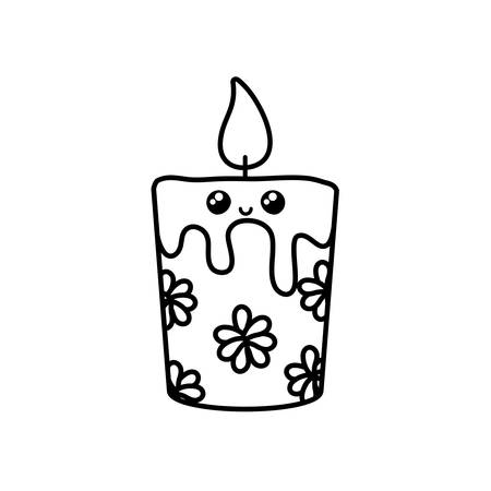 cartoon of candles on a white background vector illustration design Иллюстрация