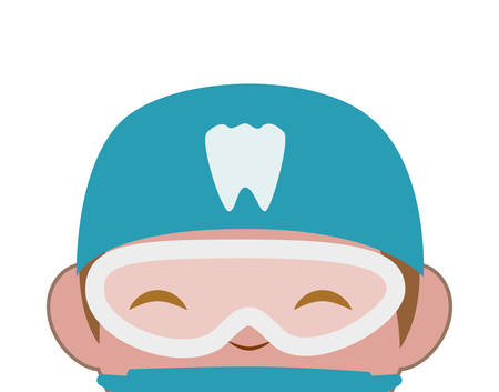 professional dentist avatar character vector illustration design