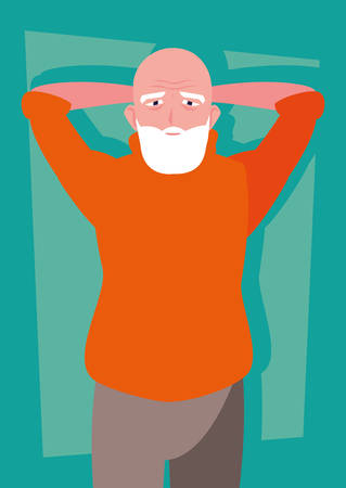 old man with beard avatar character vector illustration design Фото со стока - 136128326
