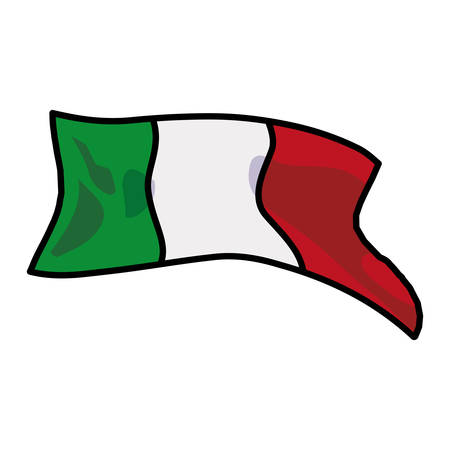 Mexican flag design, Mexico culture tourism landmark latin and party theme Vector illustration
