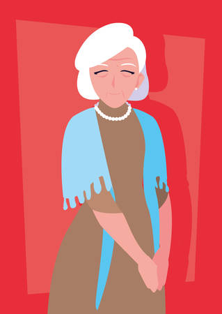 old woman with dress avatar character vector illustration design Фото со стока - 136178781