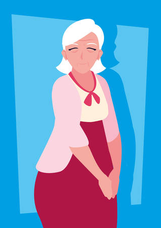 cute old woman avatar character vector illustration design Фото со стока - 136270970
