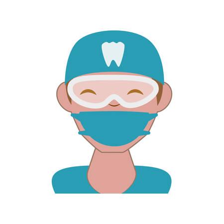 professional dentist avatar character vector illustration design