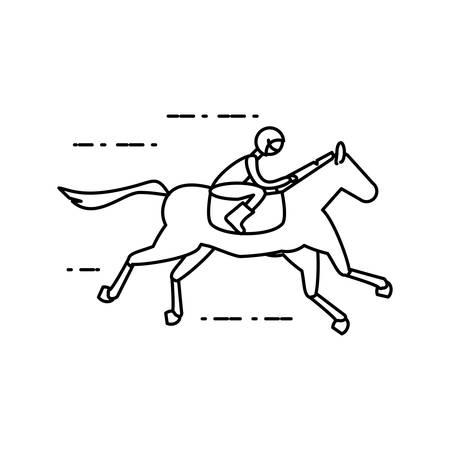 horse with jockey racecourse icon vector illustration design 免版税图像 - 136333100