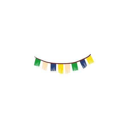party garland hanging on white background vector illustration design