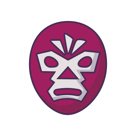 mexican wrestler mask, wrestling on white background vector illustration design