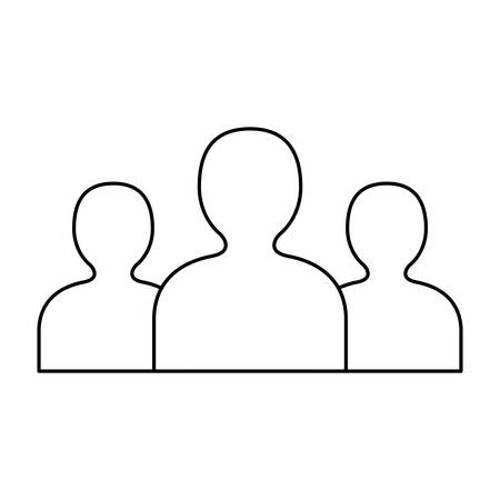 silhouette persons avatar isolated icon vector illustration design