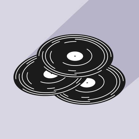 poster with set long play music vector illustration design Ilustração
