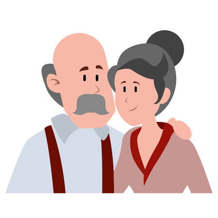 old man bald with mustache avatar character vector illustration design Фото со стока - 136596165
