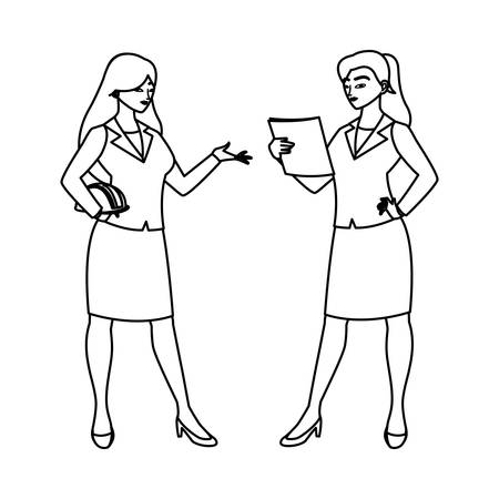 female engineers workers avatars characters vector illustration design Illustration