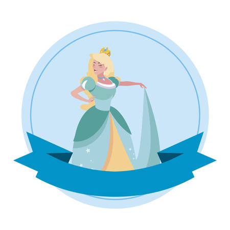beautiful princess of tales character vector illustration design Stock Illustratie