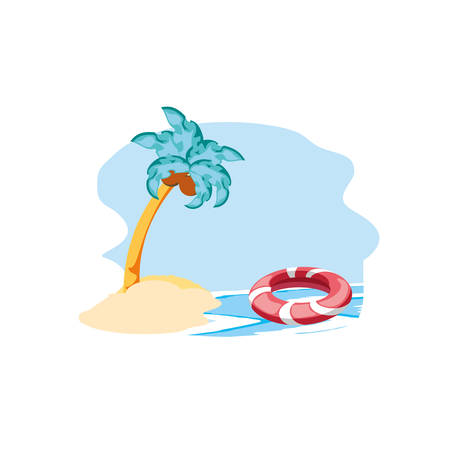 float protection summer in the beach vector illustration design