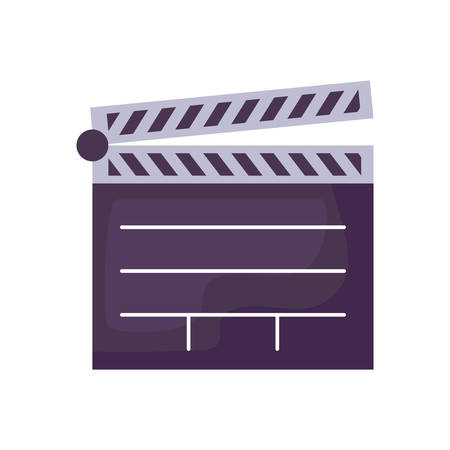 clapboard cinema director isolated icon vector illustration design